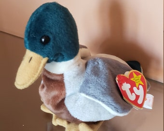 8b4977a8232 Very Rare Ty Beanie Baby Jake the Duck with tag Errors