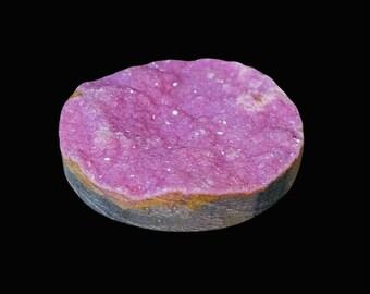 20x27mm Cobalto Calcite Drusy Fancy Cabochon African Cobalt Calcite Druzy Pink Cobalt Calcite Druzy Natural Cobalt Calcite Fancy Drusy