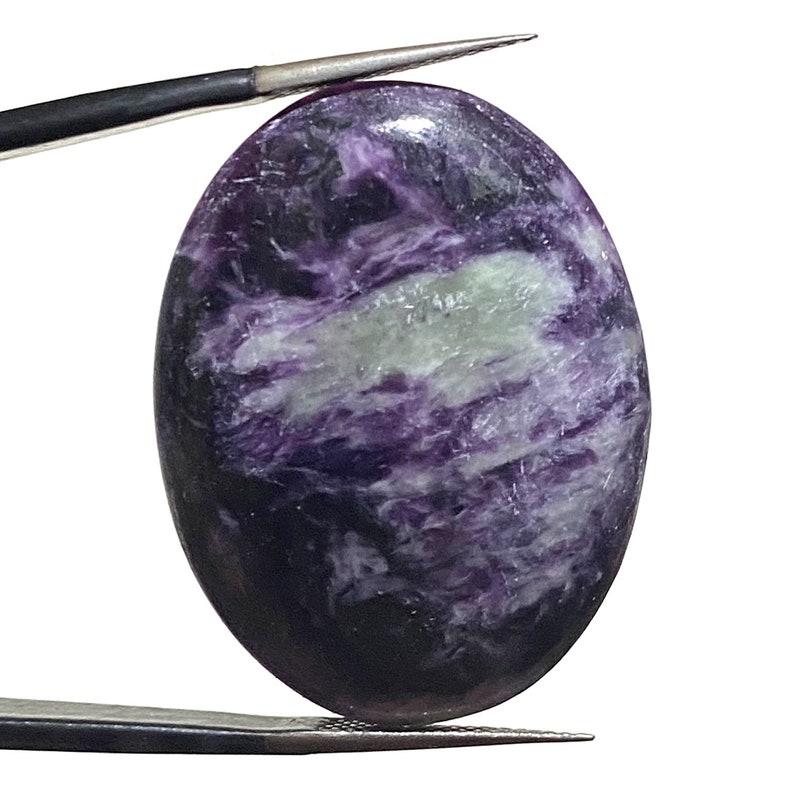 Purple Kammererite Gemstones Kammererite Gemstone 25x32mm Kammererite Oval Cabochon Natural Kammererite Kammererite Stone For Ring
