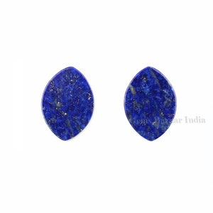 Natural Lapis Lazuli Trillion shape 9mm Flat Gemstone for jewelry making earrings making beads 2 pcs set, Natural Lapis Lazuli pendant