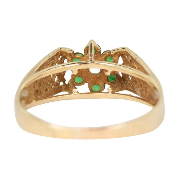 9ct Gold Emerald & Spinal Ring | Emerald Cluster … - image 5