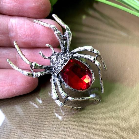 Large Red Spider Brooch, Spider Brooch or PENDANT,