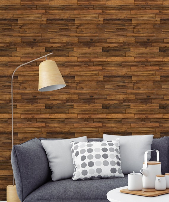 Rustic Wood Paneling Wall Paper Removable Peel And Stick Wall Etsy
