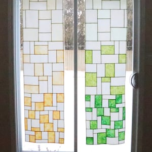 Gleam stained glass patchwork window hanging pattern