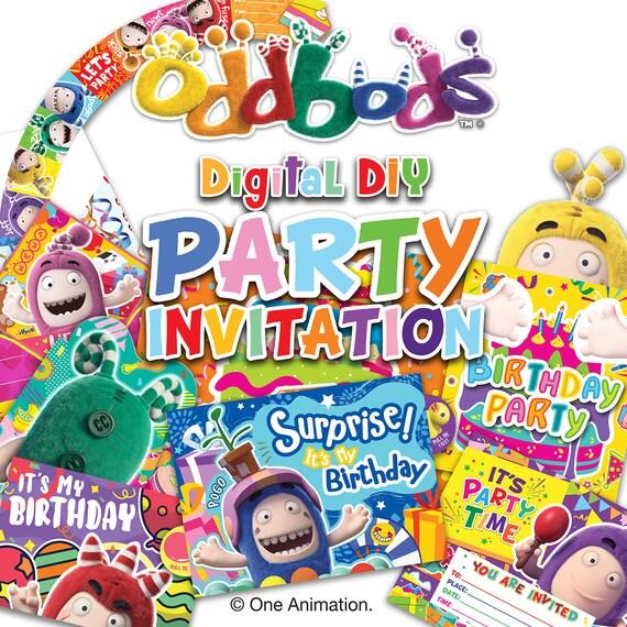 Tarjetas De Invitación Fiesta De Cumpleaños Oddbods