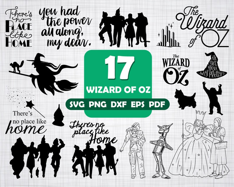 WIZARD of OZ SVG, wizard of oz, wizard of oz clipart, dorothy svg, svg  files, wizard, witch svg, wizard oz cricut, wizard oz, silhouette svg