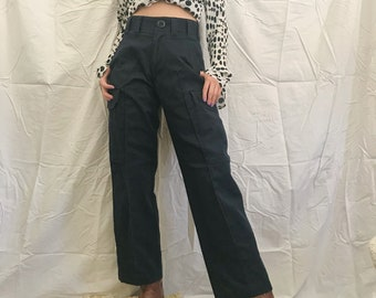 c18ddb29661 Vintage Navy Cropped Cargo Utility Pants