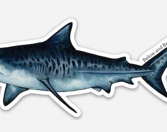 Tiger Shark Vinyl Sticker