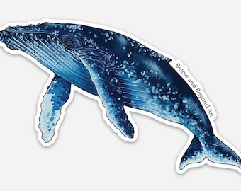 Humpback Whale Vinyl Sticker