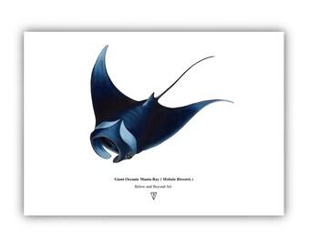 Oceanic Manta Ray - Limited Edition Fine Art Print