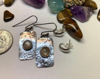 Dainty silver earrings