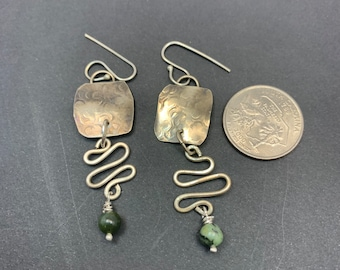 Silver and Jade Earrings
