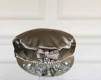 b50a0e2c1a3ad Silver Sequin Military Hat