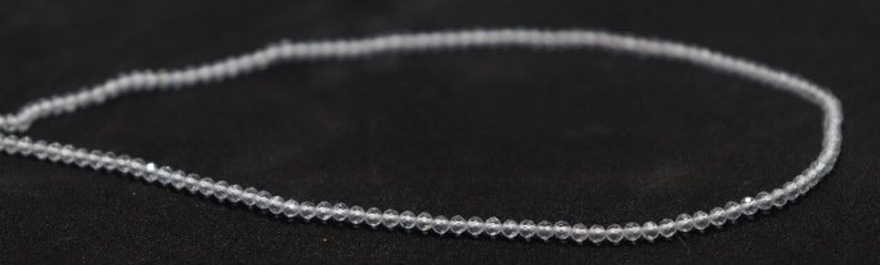 13 Inch Crystal Micro Faceted Rondelle Beads 10 Strand AAA Natural 2.5 MM Crystal Micro Faceted Rondelle Beads