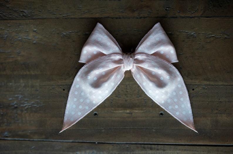 Spring Hair Bow Fable Hair Bow Ballet Pink Hair Bow