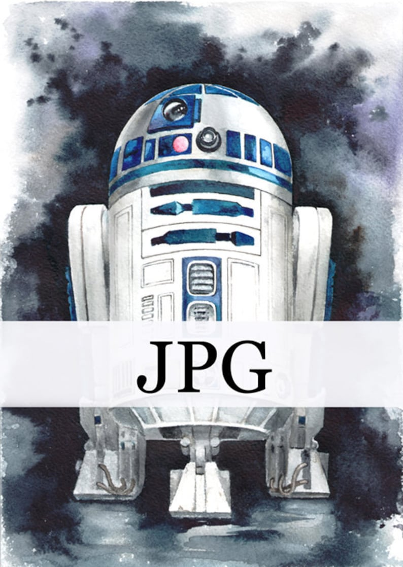 photo relating to R2d2 Printable identified as r2d2 print, r2d2 printable, watercolour R2D2, droid r2d2, electronic r2d2, star wars artwork print
