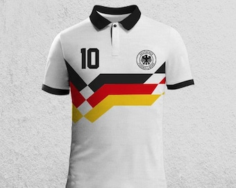 90 World Cup Retro Germany Jersey Polo Tshirt 22cb2c887