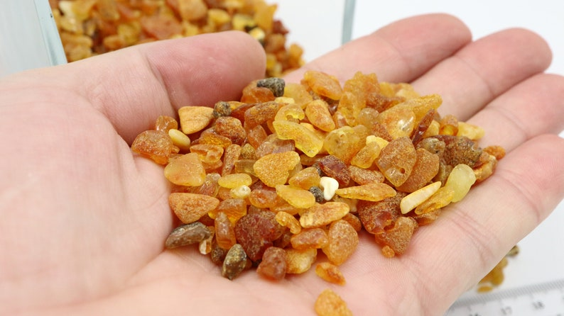 Not Drilled Raw Amber Stones Baltic Amber Beads 2-9 mm size Design and Interior Amber Gemstones