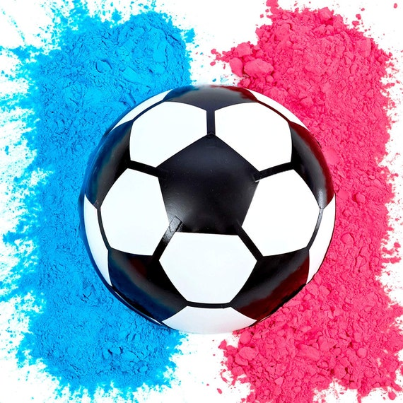 Gender Reveal Basketball Pink and Blue Kit for Baby Gender Reveal Party Poof!
