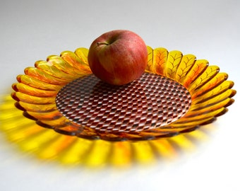 Fruit bowl for new home gift - Boho decor glass bowl for cheer up gift - Candy dish for stained glass decor