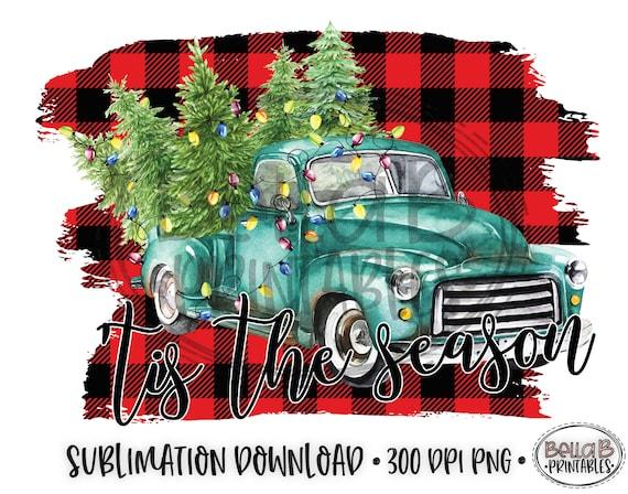 t-shirt black girl Christmas  sublimation designs Merry Christmas Red Truck Sublimation Designs digital download