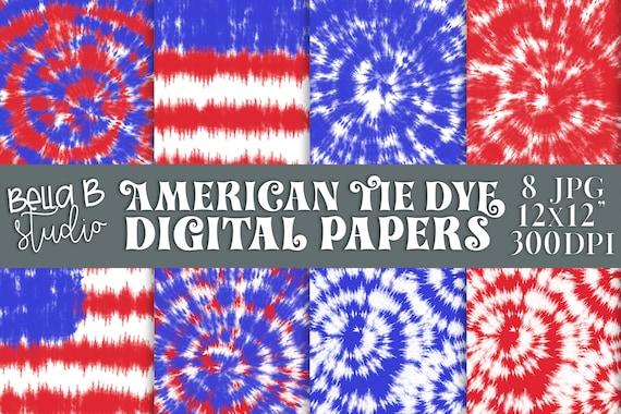 tie dye digital paper american tie dye digital paper red etsy etsy