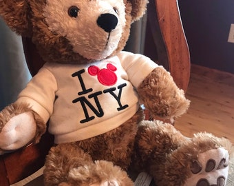 Rare 2007 Duffy the Disney Bear I love NY 95648efaf9cb4