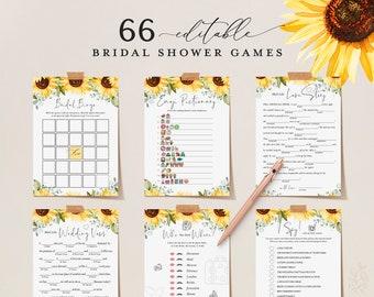 bridal shower games sunflower