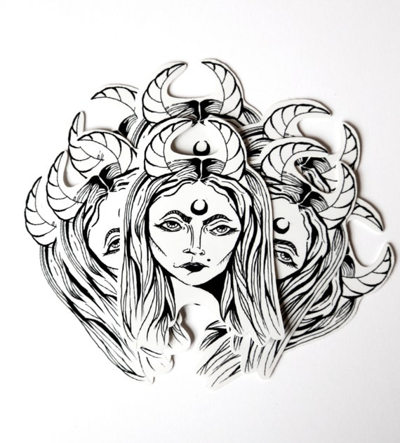 Mistress Of Evil Sticker Witch Sticker Maleficent Lilith Sabrina Sticker Spooky Sticker Gothic Sticker Witchy Sticker Occult