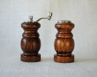 Wooden Salt Shaker and Pepper Grinder Road Trip Sale Vintage Mid Century Catalina Pepper Mill Set New In Package