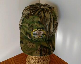 Bow Hunter Archer Camo American Flag VINYL PRIN Sandwich Bill Camoflauge Cap Hat
