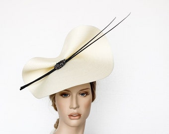 Black and white derby fascinator 6faab42fd489
