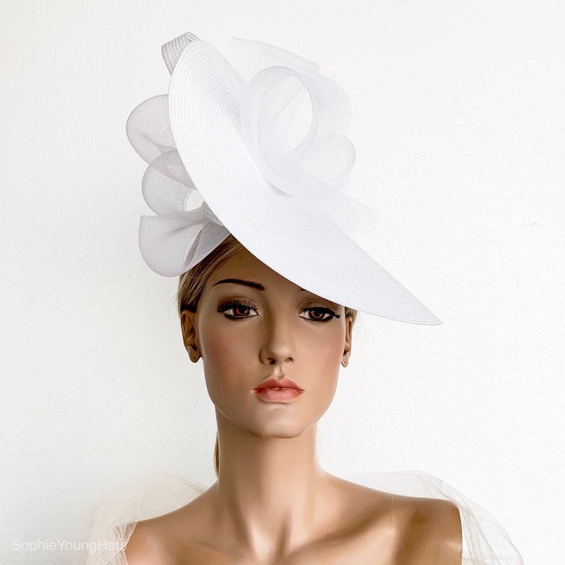 f230b123caadf White fascinator white races hat derby fascinator hat Royal | Etsy