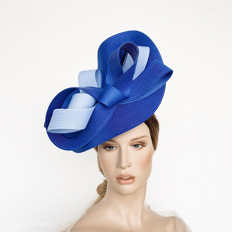0ec9adf80e7ee Royal Blue kentucky derby hat ascot fascinator millinery