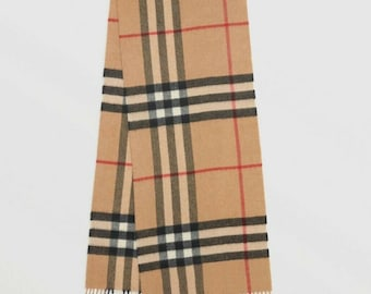 73cce31608295 Burberry Scarf Classic Check Cashmere New Tags Box