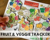 Fruit and Veggie Tracker Chart