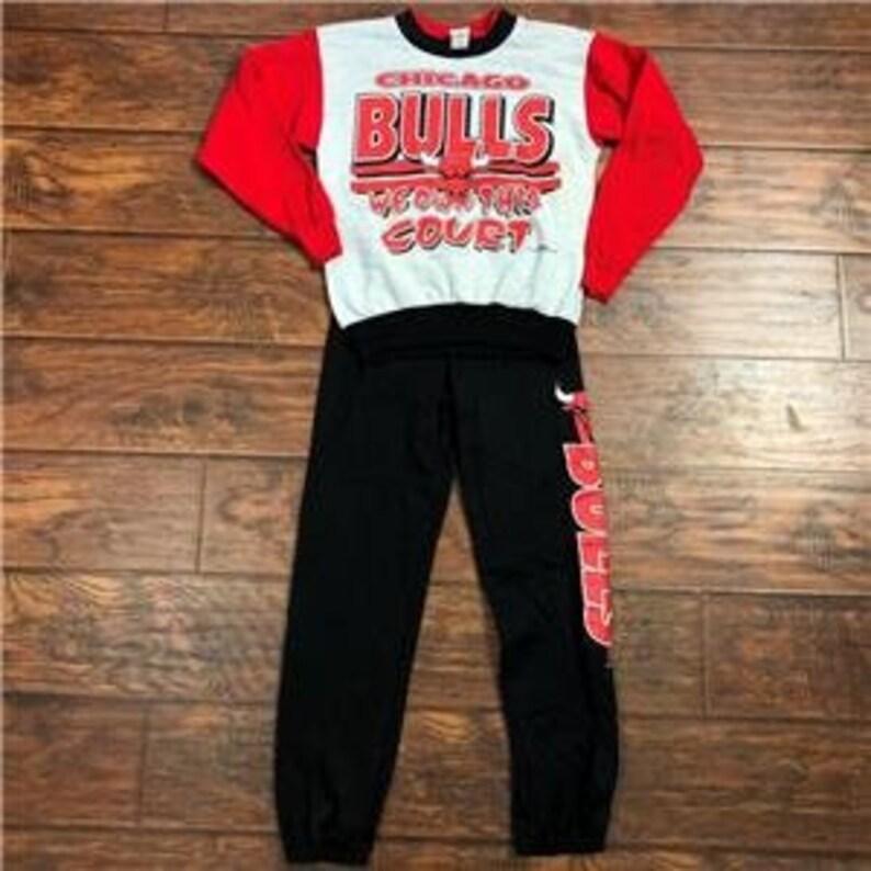 Vintage Chicago Bulls Sweatsuit Boys Size 12  8f552db8ae73
