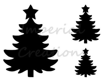 "/""CHRISTMAS TREE/"" Paint Brush Stroke 8.5/"" x 11/"" Stencil Plastic Sheet NEW S204"