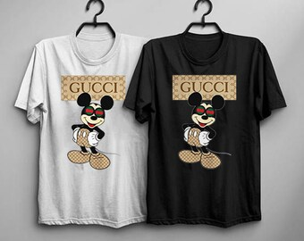 4a6d88ebc38 Mickey Mouse Dabbing GUCCI Disney T-shirts 100% cotton Men s trend 2019  Mickey Mouse Gucci Tshirt