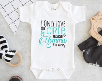 68de7043a5 Drake Baby Onesie® - I Only Love My Crib and My Momma I'm Sorry Onesie® -  Cute Drake Onesie®