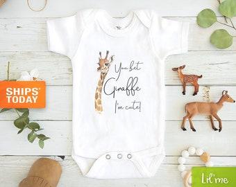 Custom Onesie Baby Gifts Baby Clothes I LOVE YOU MORE Baby Onesie \u00ae Animal Onesie Cute Onesie Giraffe Baby Shower Gifts Bodysuits.