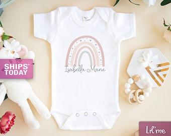 Baby Boy Onesie\u00ae Rainbow Onesie\u00ae Unisex Onesie\u00ae Baby Announcement Onesie\u00ae Baby Shower Gift Custom Baby Onesie\u00ae Baby Girl Onesie\u00ae