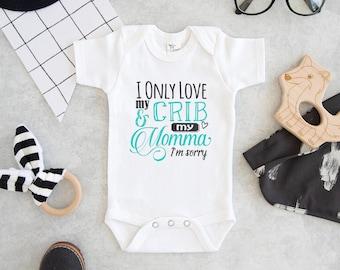 3c5f3cfc5ed Drake Baby Onesie® - I Only Love My Crib and My Momma I m Sorry Onesie® - Cute  Drake Onesie®