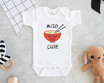 46c310d2 Miso Cute Onesie®, Baby Shower Gift, Unisex Baby Clothes, Baby Boy Clothes,  Funny Onesie®s, Sushi Onesie®, Cute Baby Onesie®s, Hipster Baby