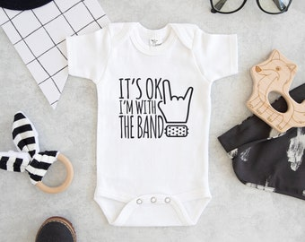 7be05c77b I'm with the Band Onesie® - Cute Onesie® Baby - Rock Baby Onesie®- Band  Member Baby Onesie® - Hipster Baby Onesie®