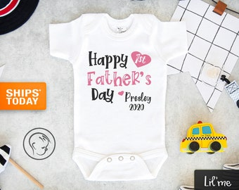 Happy First Fathers Day As A Papaw Baby Romper