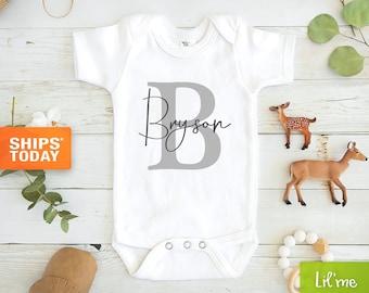 Personalized Baby Boy custom name OnesieGift for babyCustom Baby CapBaby ruffle pantsBaby BodysuitsBaby onesieBaby boy hat