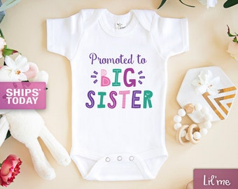 Announcement Coming 2019 Hello Big Sister Baby Romper