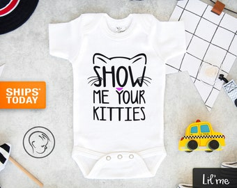 Trendy Funky Fashion for Babies Meow Smelly Cat Cute Baby Onesies\u00ae Clothes Kitten Baby Shower Gifts For Baby Boys /& Girls M94