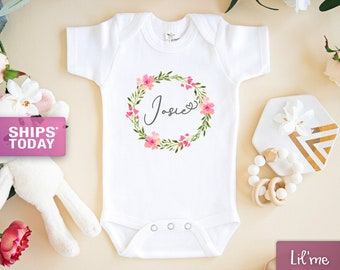 Hello Personalized Name Baby Romper My Name is Madison